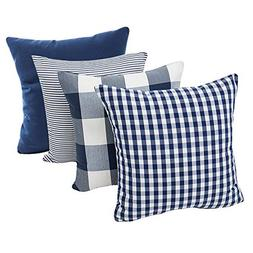 Throw Pillow Covers Cases Geometric Stripe Tartan Checkered
