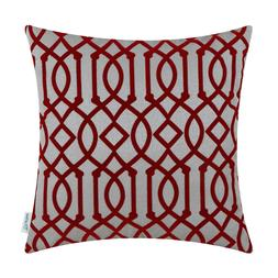 Throw Pillow Covers Cases Shell Covers Geometric Trellis Cha