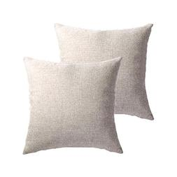 MRNIU Set of 2 Throw Pillow Covers Coastal Cushions Fine Fau