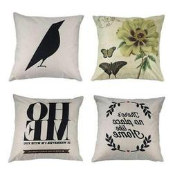MILIANG Decorative Sofa Pillow Covers Cotton Linen Cushions