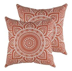 TreeWool 2 Pack Throw Pillow Covers Decorative Mandala Accen