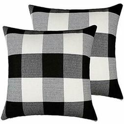 Throw Pillow Covers 4TH Emotion Farmhouse Decor Black And Wh