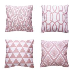 Throw Pillow Covers Geometry Pattern Cushion Covers 18'' Squ