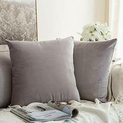 Throw Pillow Covers MIULEE Pack Of 2 Velvet Decorative Squar