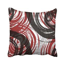 Accrocn Throw Pillow Covers Red And Black White Gray Spiral