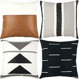 Throw Pillow COVERS - Set of 4 - 18x18 - 20x20 22x22 - FREE