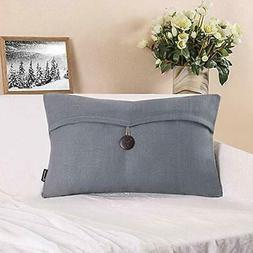 throw pillow covers single button linen decorative