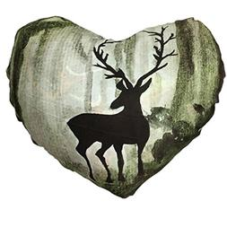 Throw Pillows Cover, Kimloog Christmas Heart Shape Deer Head