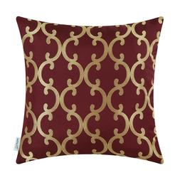Throw Pillows Covers Cases Sofa Quatrefoil Geometric Trellis