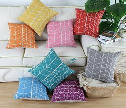 CaliTime Throw Pillows Covers Cushion Covers Stem Panels Geo