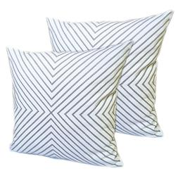 2 Pack FanHomcy Throw Pillows Cushion Covers Embroidered Cot