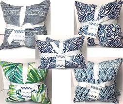 THROW PILLOWS FILLED SETS OF 2 INDOOR/OUTDOOR DECOR CUSHION
