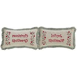 Tidings Pillow Set of 2 7x13