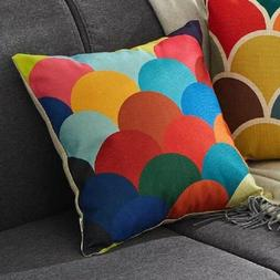 Top Finel 4 Decorative Throw Pillow Covers Chair Seat Cushio