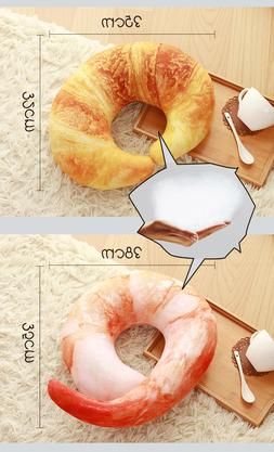 Travel Shrimp Croissant U shape Soft  Creative Throw Pillow