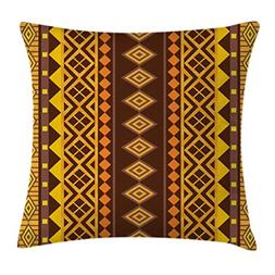 Ambesonne Tribal Throw Pillow Cushion Cover, Vertical Africa
