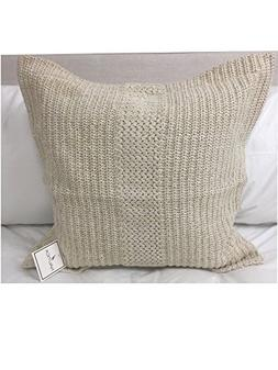Nautica Trinidad Knit Decorative Pillow Cover Ivory