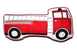 Cozy Line Home Fashions Truck Shape Throw Pillow, Red White