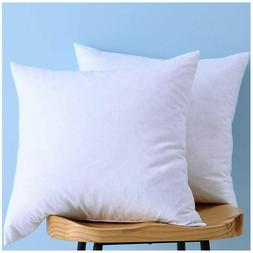 LunarTex Two Pillow Inserts, Down and Feather Throw Pillow I