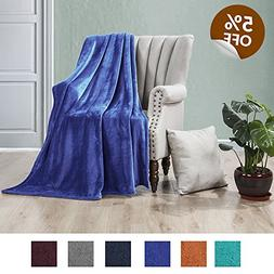 Luxe Manor 50x60 Inch Ultra Soft Flannel Fleece Throw Blanke