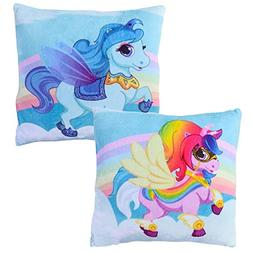 Meet Novelty Unicorn Rainbow Pillow 10 X 10 inches Square To