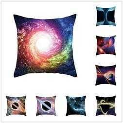 Universe Galaxy Pattern Throw Pillows Case Home Sofa Polyest