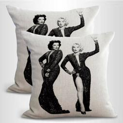 US SELLER- set of 2 American sexy icon Marilyn Monroe cushio