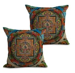 US Seller-Set of 2 Buddhism Tibet mandala cushion cover whol