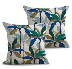 US Seller- set of 2 throw pillow covers island coconut trees