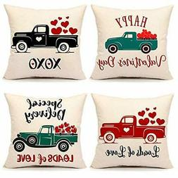 4TH Emotion Valentine's Day Throw Pillow Cover Flower Farmho