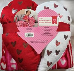 Valentines Day Gift Shareable Heart Pillow And Throw With He