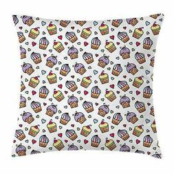 Valentines Throw Pillow Cases Cushion Covers by Ambesonne Ho