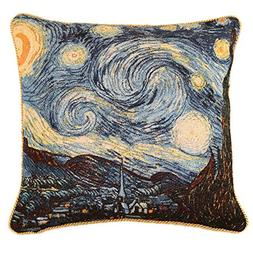 Signare Van Gogh Artist Tapestry Double Sided Square Throw P