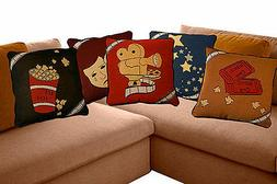 VARIOUS Home Theater Theatrical Throw Pillows! Cinema Movie