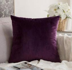 Miulee Velvet Soft Decorative Throw Pillow Cover Case 24""