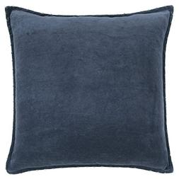 Rizzy Home Velvet Solid Decorative Polyester Filled Pillow,