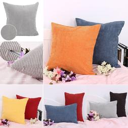 Velvet Square Rectangle Home Sofa Decor Throw Pillow Cover C
