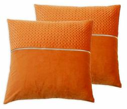 Vincenzo 20-Inch Square Throw Pillows in Umber