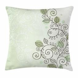 Vine Throw Pillow Cases Cushion Covers by Ambesonne Home Dec