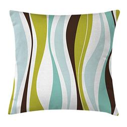 Ambesonne Vintage Throw Pillow Cushion Cover, Abstract Horiz