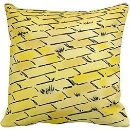 Vintage Wizard of Oz Yellow Brick Road by Denslow Throw pill