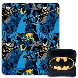 "Batman, ""Night Shield"" 14"" Square Pillow and Fleece Throw Bl"