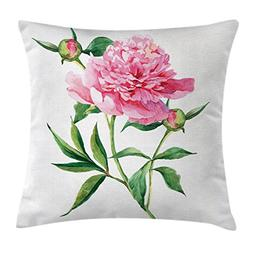 Ambesonne Watercolor Flower Throw Pillow Cushion Cover, Vint