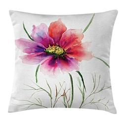 Ambesonne Watercolor Throw Pillow Cushion Cover, Beautiful T