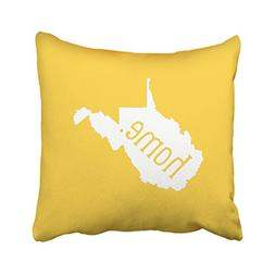 KJONG West Virginia Home State Zippered Pillow Cover,18X18 i