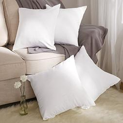 Deconovo White Cushion Covers Faux Linen Pillow Cases with I