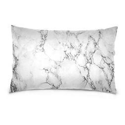 ALAZA White Marble Texture Floor Cotton Lint Pillow Case,Thr