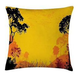 Woodland Throw Pillow Cases Cushion Covers Ambesonne Home De