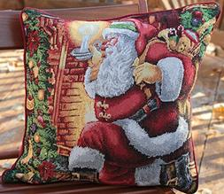"""Tache 1 Piece 16"""" X 16""""tapestry Christmas Decorative Accent"""