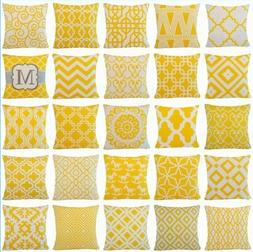 Yellow Home Decor Throw PILLOW COVER Couch Sofa Waist Bed Cu